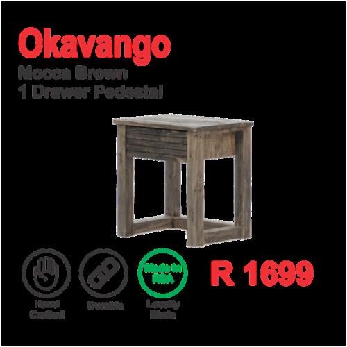 Okavango Mocca Brown 1 Draw Pedestal