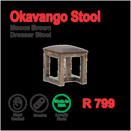 Okavango Mocca Brown Dresser Stool